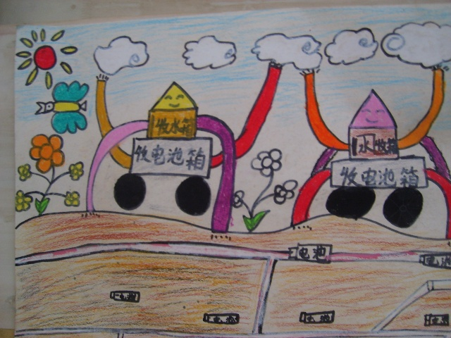 儿童新年贺卡绘画_风景520图片