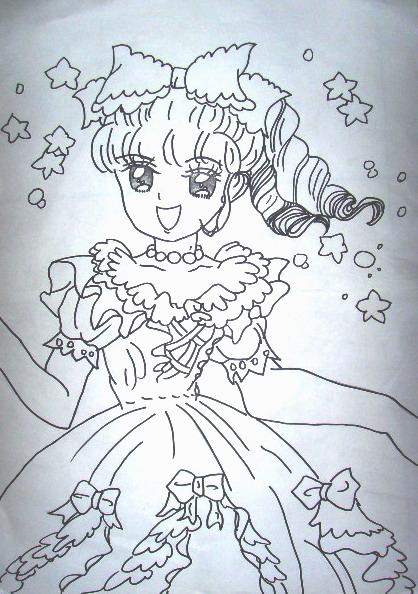 简笔画人物 小公主图片