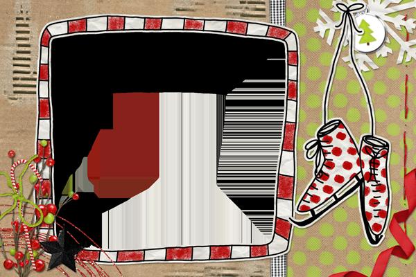 【scrapbook素材】圣诞主题拼贴式样相框