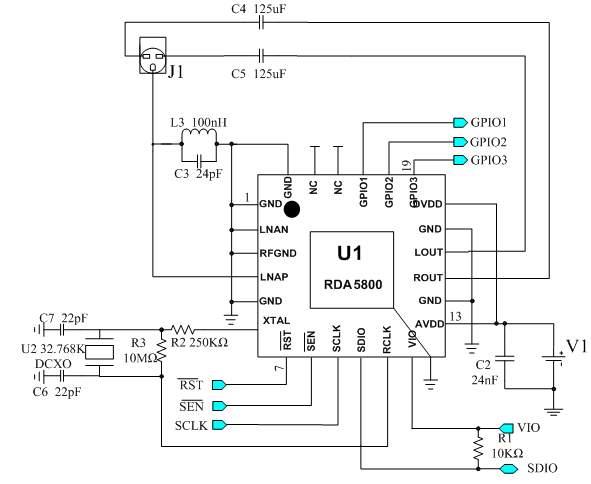 rda5800收音机芯片的工作原理与应用