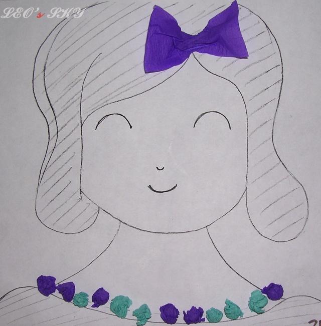 幼儿园的老师给每个小朋友发一张纸,上面画了一个妈妈,让小朋友用彩色