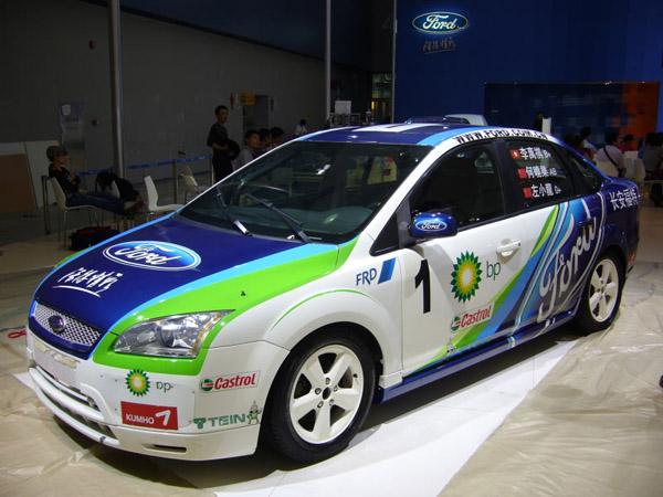 福特福克斯的改装版赛车,每次车展都能见到.高清图片