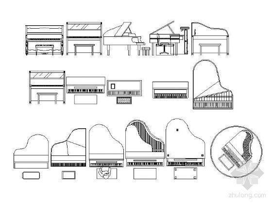 室内设计中的三角钢琴