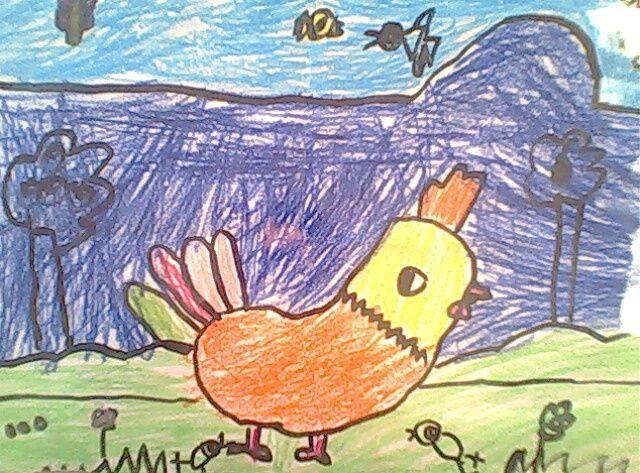 儿童画《可爱的小老鼠》《跳舞的小企鹅》《大公鸡》《小鲨鱼》