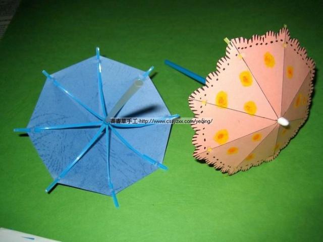 幼儿简笔画小伞