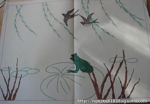 丹顶鹤铅笔画-画中的童年