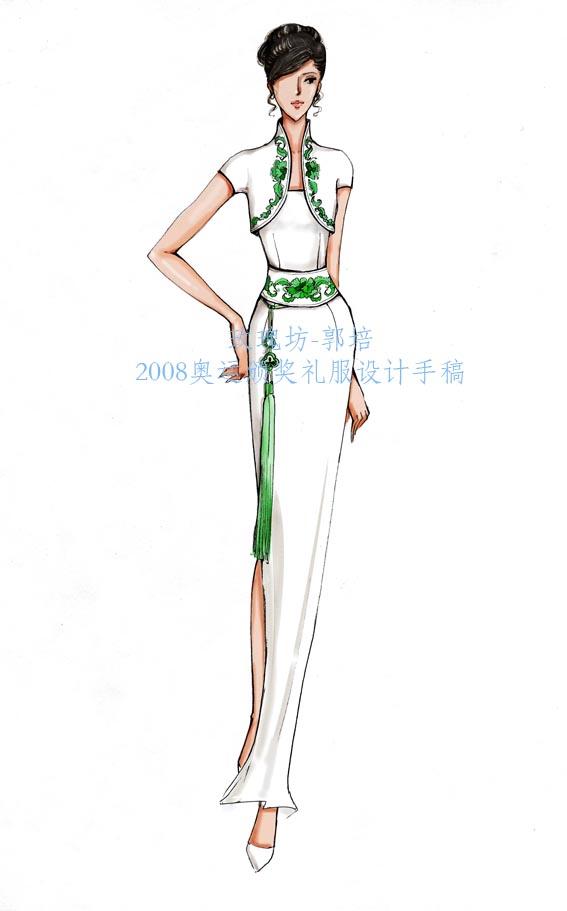 礼服设计手稿_橱窗设计手稿_手表设计手稿_旗袍设计手稿素描图