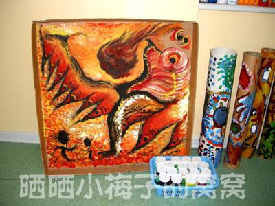 pvc管幼儿园创意作画