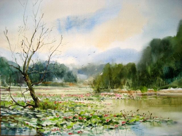 水彩树的画法>>中国画树的画法>>钢笔画速写树的画法