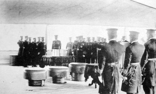 20世纪早期的日本海军作训生活照