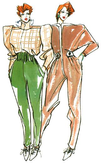 服装设计图画法(转)