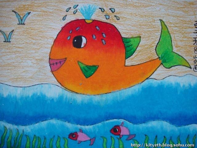 2009宝宝绘画作品一一快乐的鱼-快乐涂鸦儿童画-搜狐