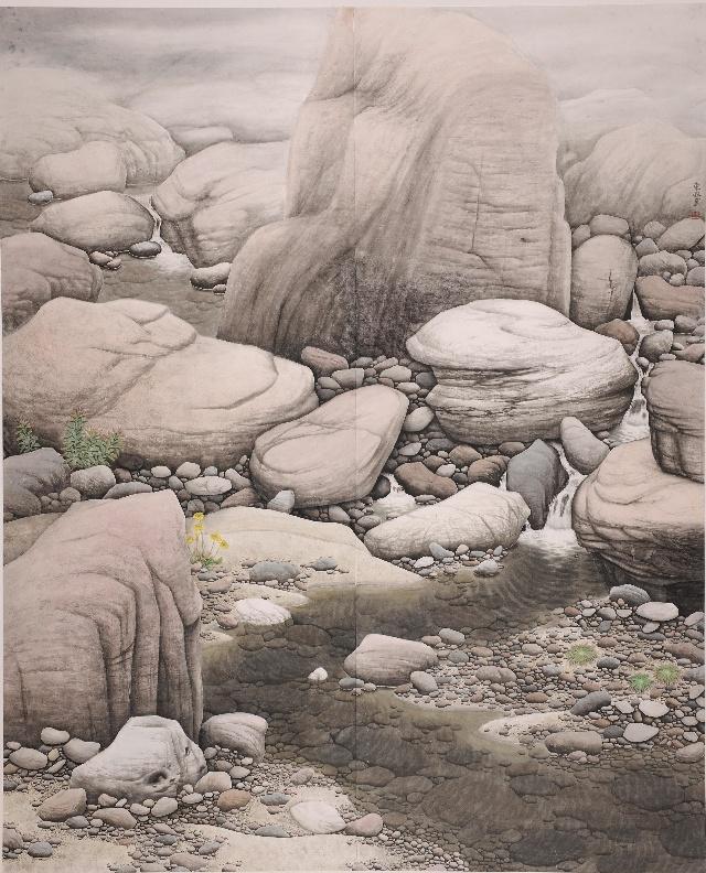 杨东风作品《笃情河洛》获第二届中国工笔山水画铜奖