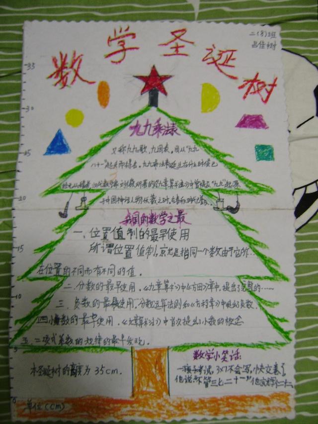 卡通圣诞树手抄报小边框图片大全