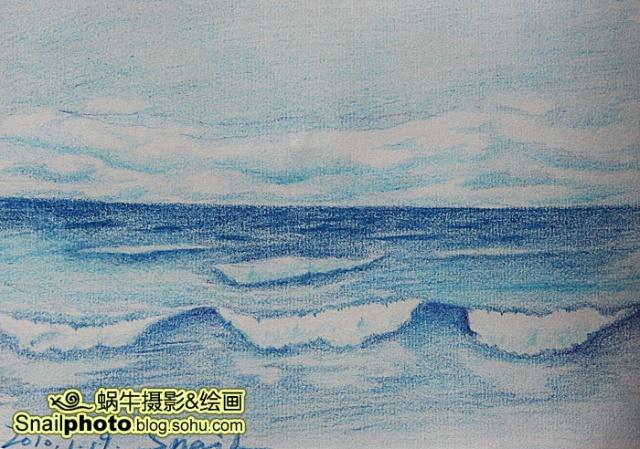 大海颜料画黑板报