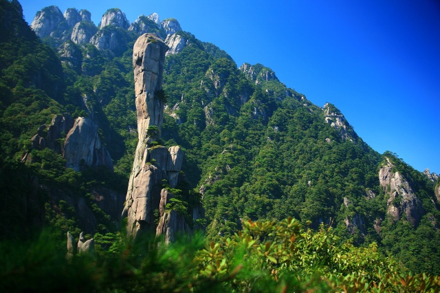 风景秀丽的三清山 世间文化遗产三清山